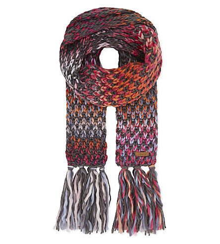 BARTS BV Nicole knitted scarf (Dark+grey