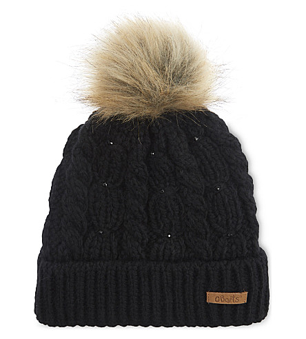 BARTS BV Lux chunky knit beanie (Black