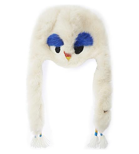 BARTS BV Grover owl trapper hat (White