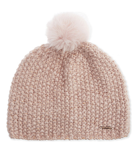 BARTS BV Ymaja knitted pompom beanie (Bloom