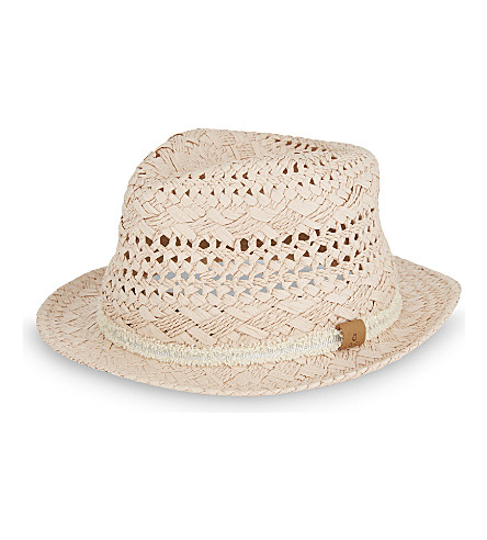 BARTS BV Metallic band straw hat (Dusty+pink