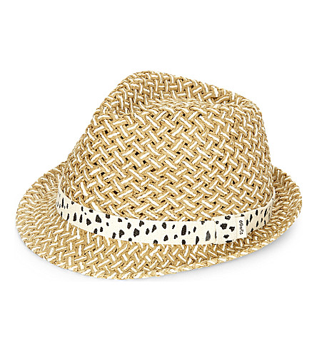 BARTS BV Wahoo spotted band straw hat (Sand