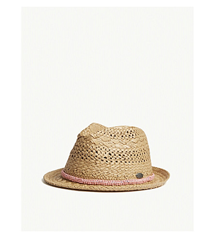 BARTS BV Famous woven-trim straw hat (Brown