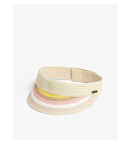 BARTS BV Prom stripe straw sun visor (Cream