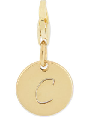 ANNA LOU Gold plated small c disk charm