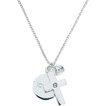 JACQUES + SIENNA Sterling silver cross necklace (Silver