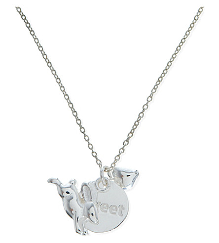 JACQUES + SIENNA Sterling silver rabbit necklace (Silver