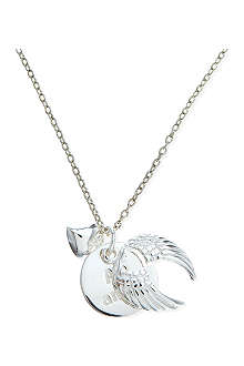 JACQUES + SIENNA Sterling silver wings necklace