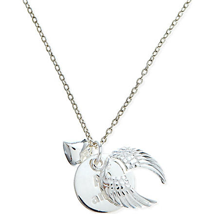 JACQUES + SIENNA Sterling silver wings necklace (Silver