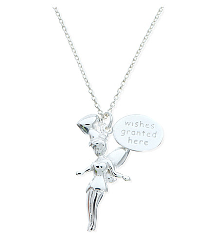JACQUES + SIENNA Sterling silver Tinkerbell necklace (Silver
