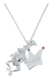 JACQUES + SIENNA Sterling silver frog charm necklace