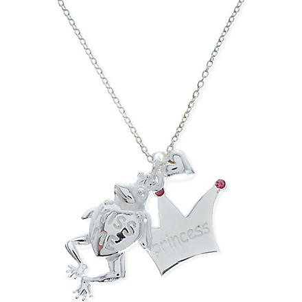 JACQUES + SIENNA Sterling silver frog charm necklace (Silver