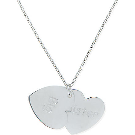 JACQUES + SIENNA Sterling silver big sister necklace (Silver