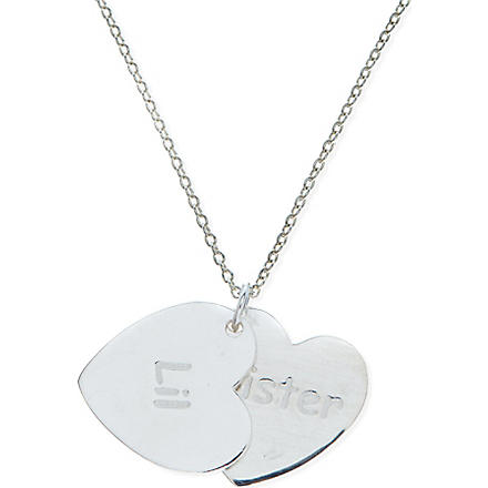 JACQUES + SIENNA Sterling silver lil sister necklace (Silver