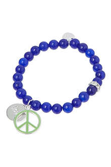 JACQUES + SIENNA Peace & love charm bracelet