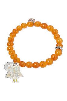 JACQUES + SIENNA Owl charm bracelet