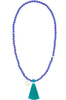 JACQUES + SIENNA Enamel Peace bead necklace