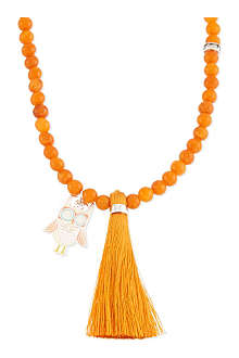 JACQUES + SIENNA Little Owl enamel bead necklace