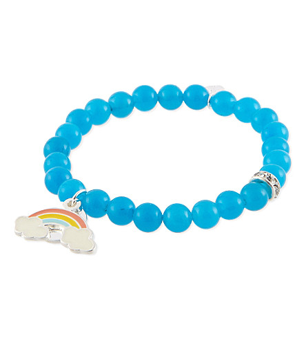 JACQUES + SIENNA Dream enamel bead bracelet (Rainbow & dream