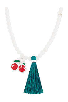 JACQUES + SIENNA Enamel Cherry necklace