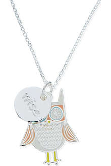 JACQUES + SIENNA Silver owl necklace