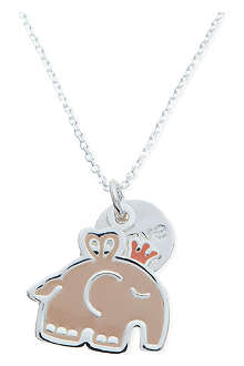 JACQUES + SIENNA Silver elephant necklace