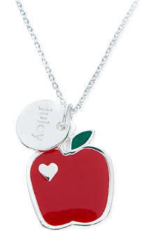 JACQUES + SIENNA Silver apple necklace