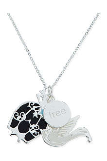 JACQUES + SIENNA Silver coated charm necklace