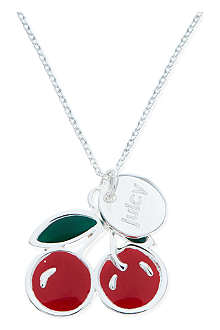 JACQUES + SIENNA Silver cherries necklace
