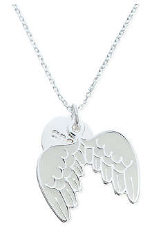 JACQUES + SIENNA Silver angel wings necklace