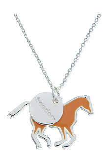 JACQUES + SIENNA Silver horse necklace