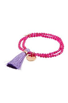 JACQUES + SIENNA Rose gold tassel bracelet