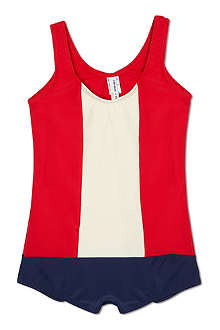 AGNES VALENTINE Colour block swimsuit 4-14 years