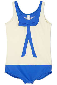 AGNES VALENTINE Bow neck swimsuit 4-14 years