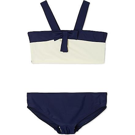 AGNES VALENTINE Rosy bow front bikini 4-14 years (Cream / navy