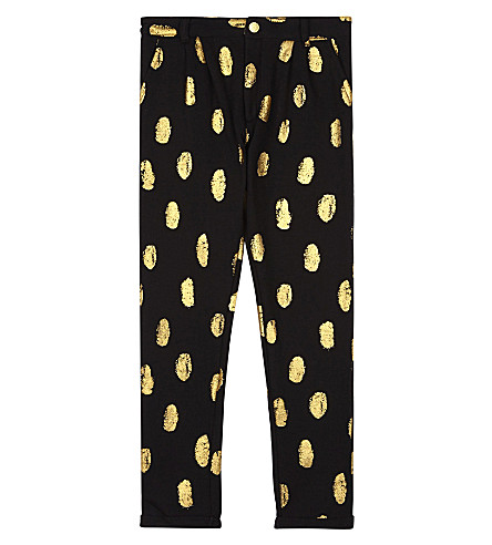 SOFT GALLERY Zeus metallic spot tracksuit bottoms 4-14 years (Aop+goldie