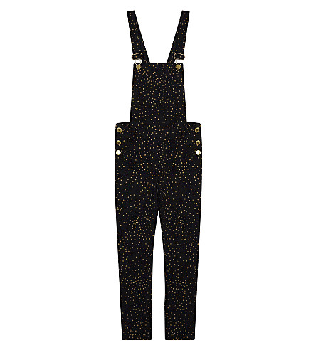 SOFT GALLERY Natalie dot print cotton dungarees 4-14 years (Aop+dotties