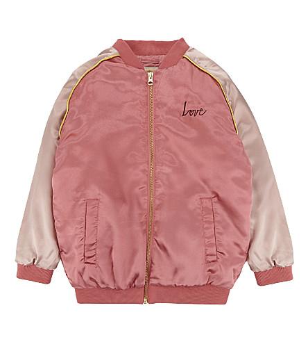 SOFT GALLERY Sandy heart satin bomber jacket 4-14 years (Heart+art