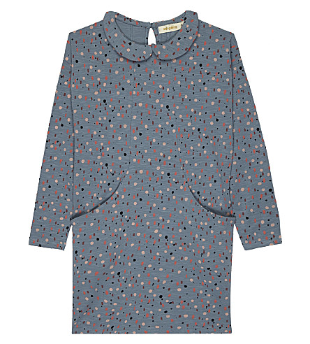 SOFT GALLERY Adele cotton dress 4-14 years (Aop+dash