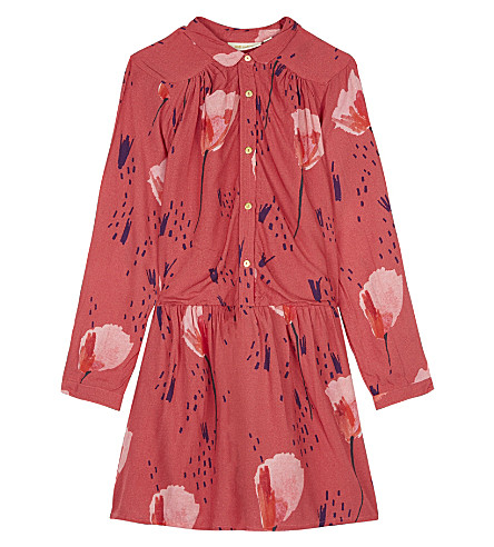 SOFT GALLERY Floral shirt dress 4-14 years (Aop+tulip