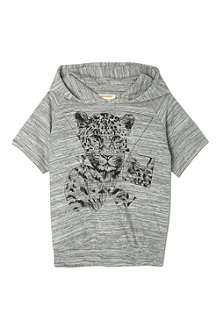 SOFT GALLERY Patrick triangle leopard hoodie 2-14 years