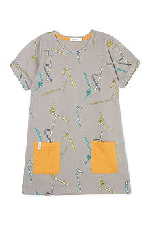 INDIKIDUAL Straw t-shirt dress 2-7 years