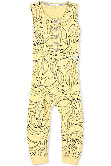 INDIKIDUAL Banana-print jumpsuit 2-7 years