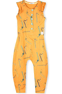 INDIKIDUAL Straw-print jumpsuit 2-7 years