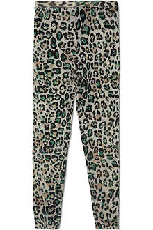 RIKA Leopard print wool leggings 4-11 years