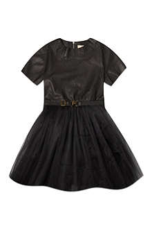 RIKA Leather and tulle tutu dress S-L