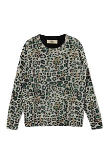 RIKA Leopard print wool jumper 4-11 years
