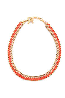 JOHN & PEARL Parralax simple orange necklace