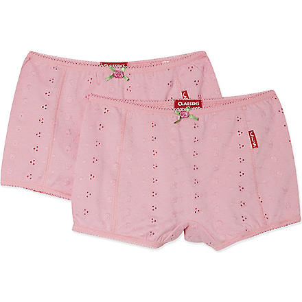 CLAESENS Boxers twin pack 2-15 years (Pink