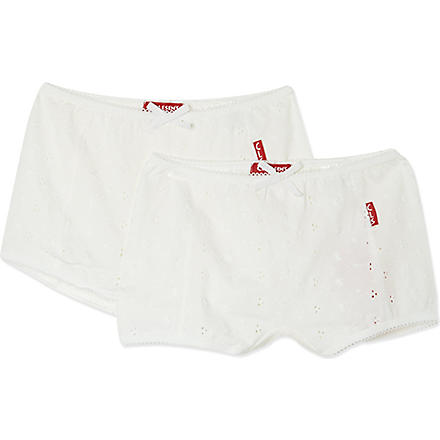 CLAESENS Boxers twin pack 2-15 years (White